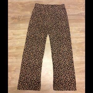 Cheetah print fleece pajama pants small